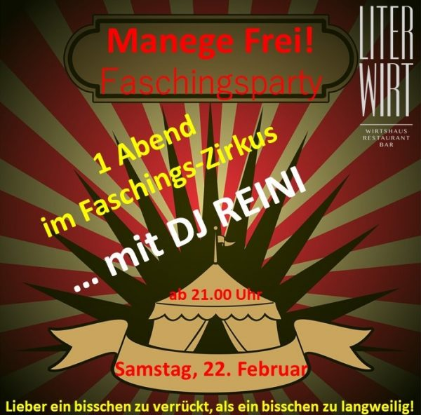 Manege frei, Faschingsparty